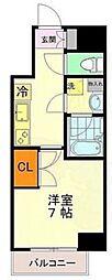 東京メトロ千代田線 乃木坂駅 徒歩2分の賃貸マンション 5階1Kの間取り