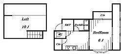 ルセンテ[3階]の間取り