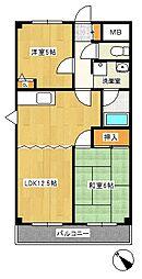 さつきマンション[2階]の間取り