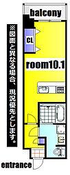 No.63 ORIENT CAPITAL TOWER 15階1Kの間取り