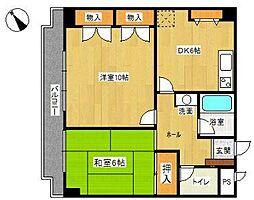 マンションウィステリア[4階]の間取り