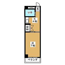 ハイツ浅井[1階]の間取り