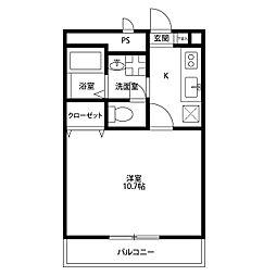 兵庫県伊丹市瑞ケ丘4丁目の賃貸アパートの間取り