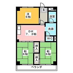 フローレスヤマワキ[3階]の間取り