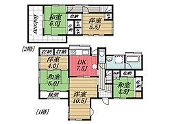 [一戸建] 千葉県四街道市さちが丘2丁目 の賃貸【千葉県 / 四街道市】の間取り