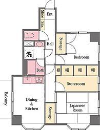 ライオンズマンション東松山下沼公園[401号室]の間取り
