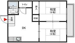 KMKハイツ 額田町 新石切12分[2階]の間取り