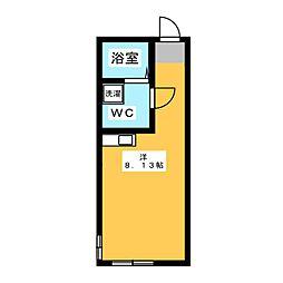 BACE中野島 2階ワンルームの間取り