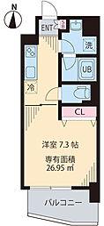 JR中央線 中野駅 徒歩10分の賃貸マンション 5階1Kの間取り