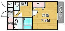 ボヌール津田駅前 B棟[2階]の間取り