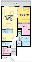 東京都港区西麻布2丁目の賃貸マンションの間取り