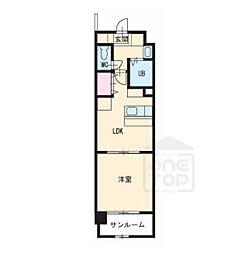 愛知県名古屋市天白区植田2の賃貸マンションの間取り