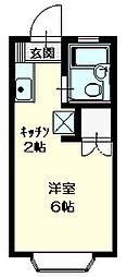 オダハイツ2階Fの間取り画像
