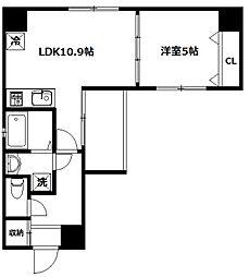 メルヴェーユ新宿[203号室]の間取り