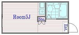 コスモ和光II[2階]の間取り