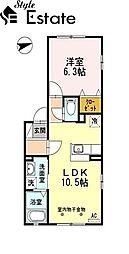 愛知県名古屋市南区元桜田町2丁目の賃貸アパートの間取り