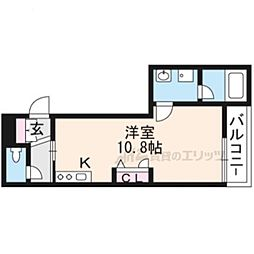 JR東海道・山陽本線 草津駅 徒歩5分の賃貸マンション 1階ワンルームの間取り