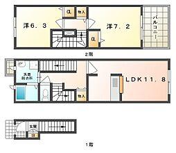 サンリットツインB[2階]の間取り