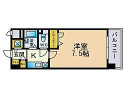 エリアント赤坂[2階]の間取り