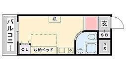 ピュアハウス甲子園[610号室]の間取り