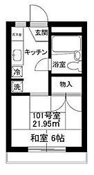 神奈川県横浜市神奈川区上反町2の賃貸マンションの間取り