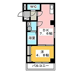 モンターナ岩槻東町 4階1DKの間取り