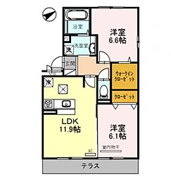 Casa raffine 瀬田A[205号室号室]の間取り
