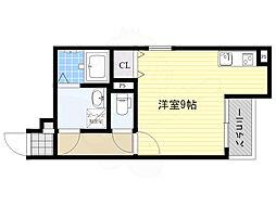 JR関西本線 加美駅 徒歩12分の賃貸アパート 3階ワンルームの間取り