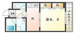 ベルビュー3番館[2階]の間取り