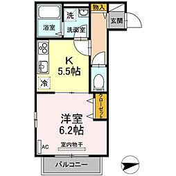 東京都板橋区高島平8丁目の賃貸アパートの間取り
