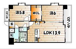 TEIAI BLD No7[5階]の間取り