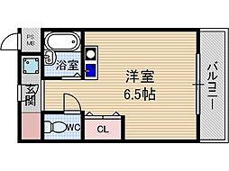 サンフェイム黒田[2階]の間取り