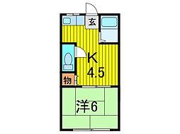 錦荘C[203号室]の間取り
