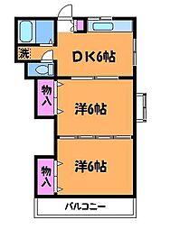 エクレールヤクモ[1階]の間取り