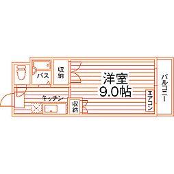 熊本県熊本市中央区妙体寺町の賃貸マンションの間取り