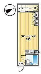 フローラル笹塚[102号室]の間取り
