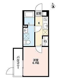 Osaka Metro谷町線 関目高殿駅 徒歩5分の賃貸アパート 1階1Kの間取り