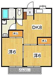 星第2アパート[222号室号室]の間取り