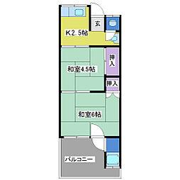 太陽アパート[1階]の間取り