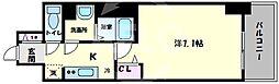 プリムール新深江 7階1Kの間取り