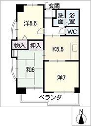 ベルドミール葵21[3階]の間取り