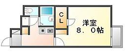 広島県福山市沖野上町1丁目の賃貸アパートの間取り