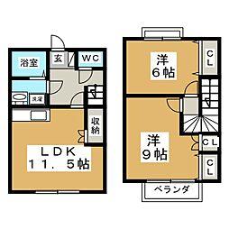 メゾンサンセリテIII[2階]の間取り