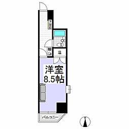 ダイヤパレス木島平 6階1Kの間取り