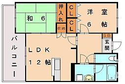 コーポ光岡II[4階]の間取り