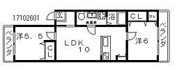 ルイーズ[2階]の間取り