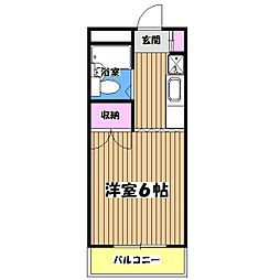東京都国立市石田の賃貸マンションの間取り