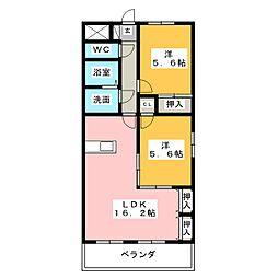 ガーデンヒルズ東山台[1階]の間取り