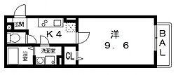 エスポワール[207号室号室]の間取り