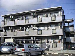 岡山県岡山市北区万成東町の賃貸マンションの外観